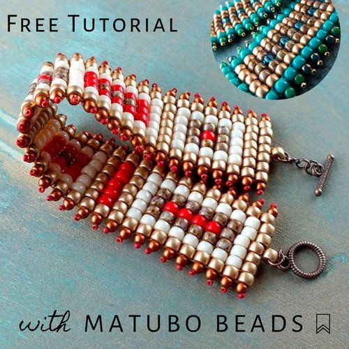 Photo of How to Make Square Stitch Beaded Bracelet with Matubo Seed Beads – Easy Tutorial