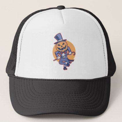 Dance Pumpkin Dance Trucker Hat - #halloween #hats #party #ideas - halloween dance ideas