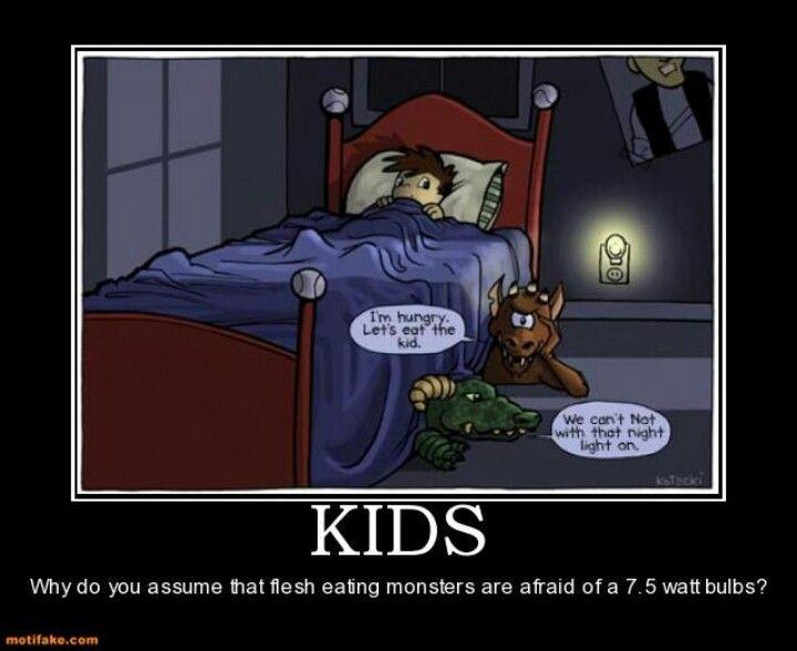 Light bulbs are scary