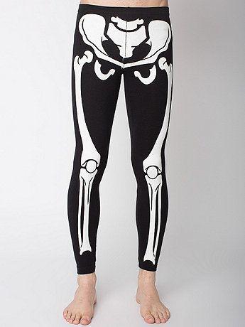 Glow Skeleton Cotton Spandex Jersey Legging   American Apparel