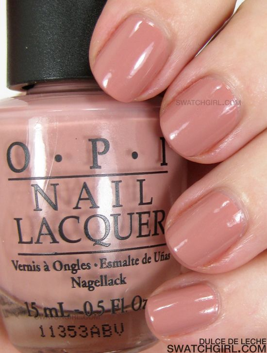 Favorite Color For Important Business Meetings Opi Dulce De Leche Nail Polish Review Swatches Photos