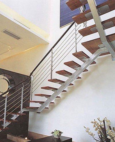 Anclaje escalera en l con zanca central (estructura metálica y ...