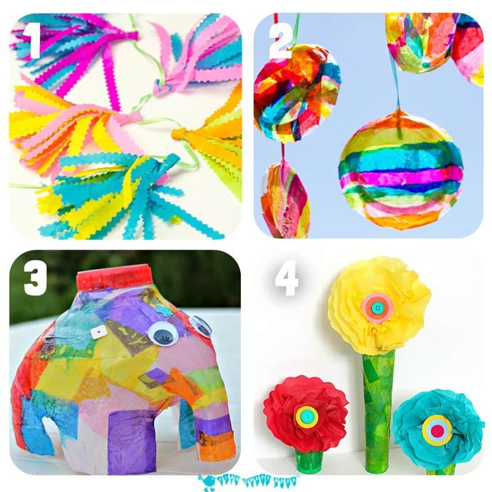 Crepe Paper Crafts For Kids Part - 18: 16 Of The Best Tissue Paper Crafts For Kids That Will Have Them Exploring  And Experimenting