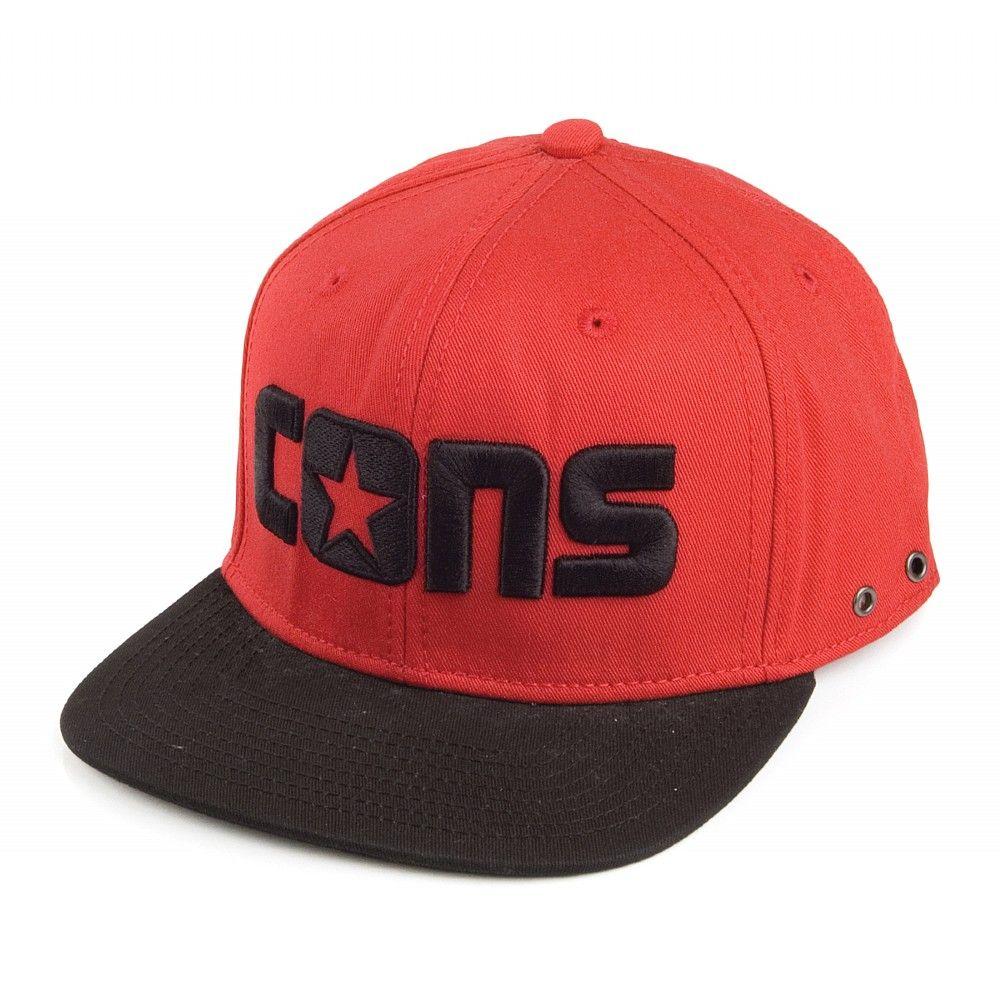 b53d20fb Converse Cons Snapback Cap - Red/Black | Stuff to Buy | Snapback cap ...