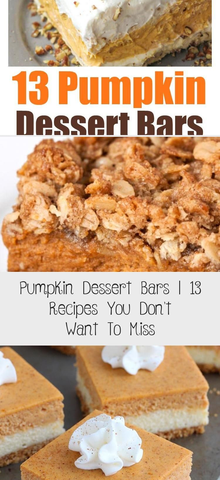 Photo of Yummy pumpkin dessert bars. I've rounded up recipes for the best pumpkin desse…
