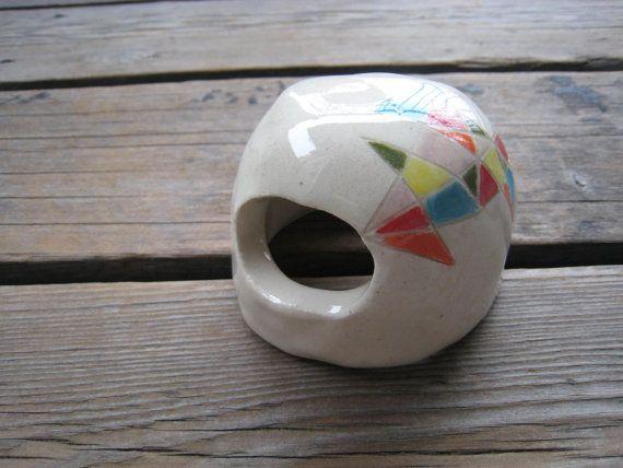 Betta Art Decorative Fish Bowl Ceramic Aquarium Cave Betta Fish Cave Ceramicswhitecitrus
