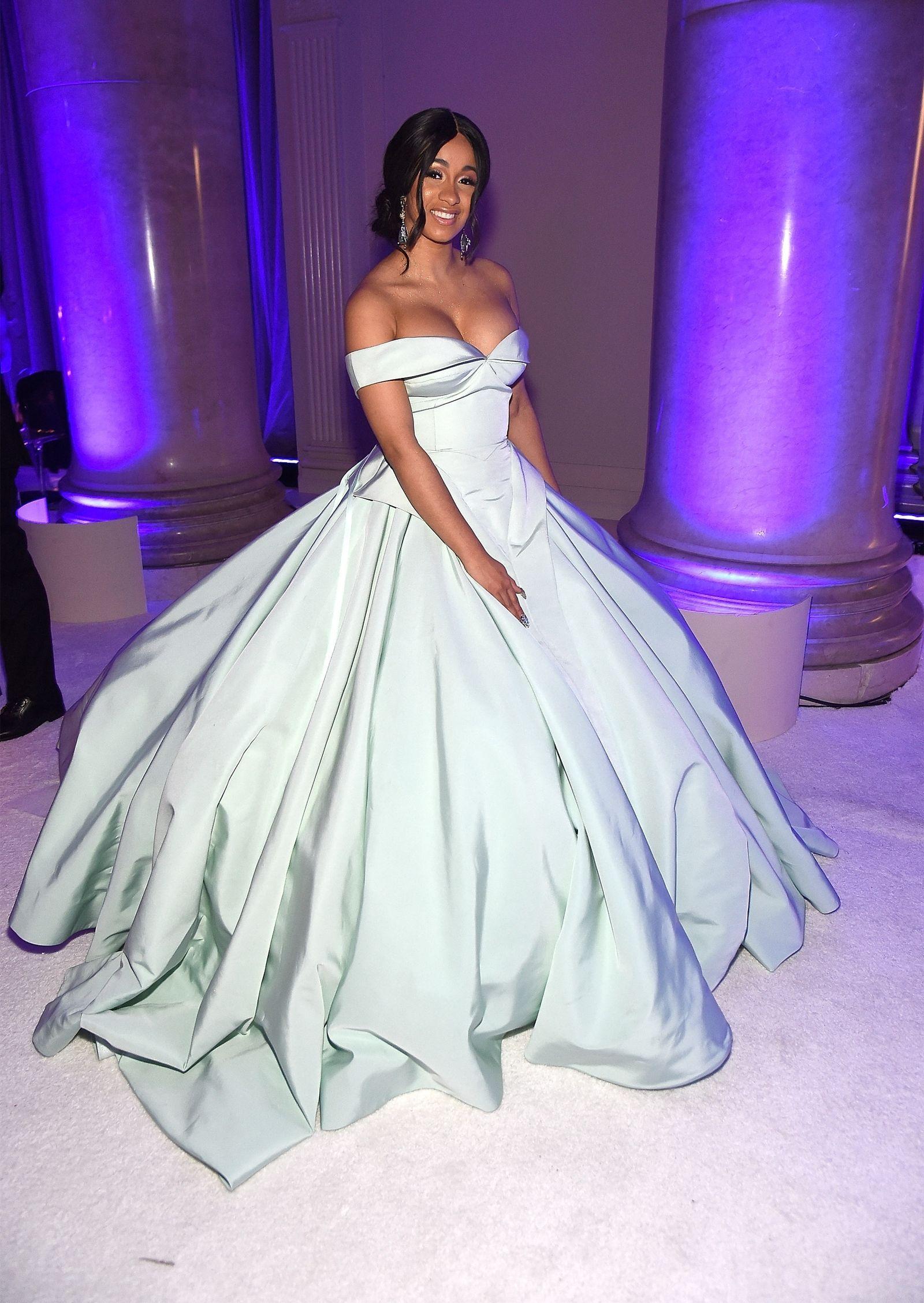 Cardi B Looks Like a Freaking Disney Princess at Rihanna\'s Diamond ...