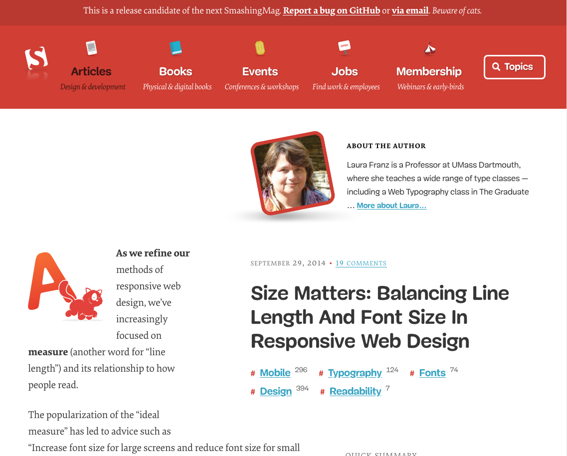 Size Matters Balancing Line Length And Font Size In