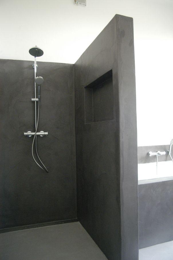 Badkamer Woonhuis Nijmegen Beton Cire Orage Beton Badezimmer Beton Dusche Badezimmer Innenausstattung