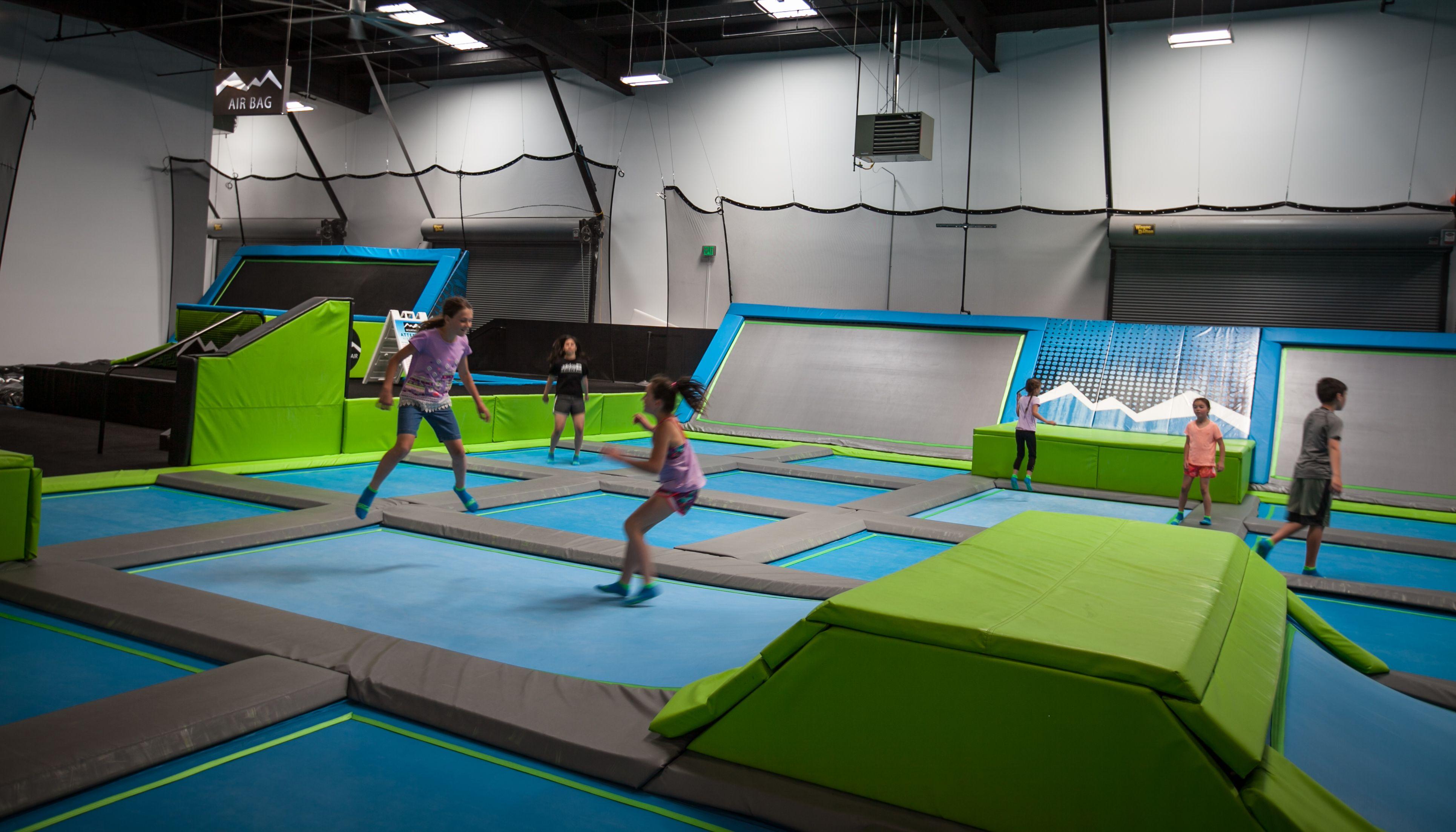 Just Opened The Largest Indoor Play Trampoline Park You Ve Ever Seen Trampoline Park Kids Indoor Play Indoor Fun