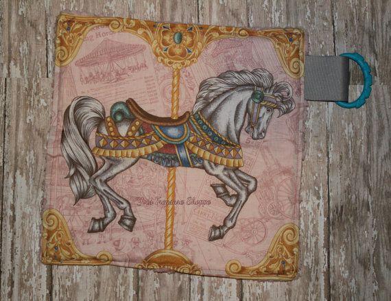 Carousel Horse Security Blanket by YvesTreasureShoppe on Etsy