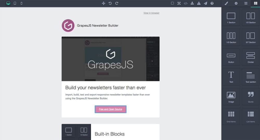 Grapesjs Coding Web Template Templates