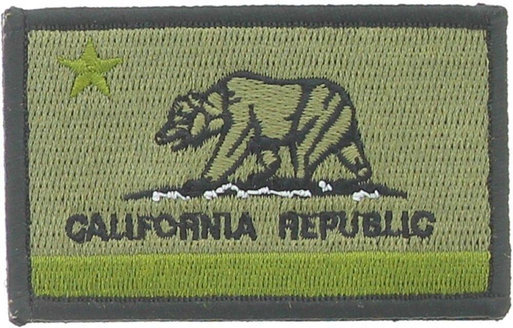 10-Pack California State Flag Patch CA Republic Morale Hook Loop Olive Drab   ArmyUniverse fa0b3045c1c