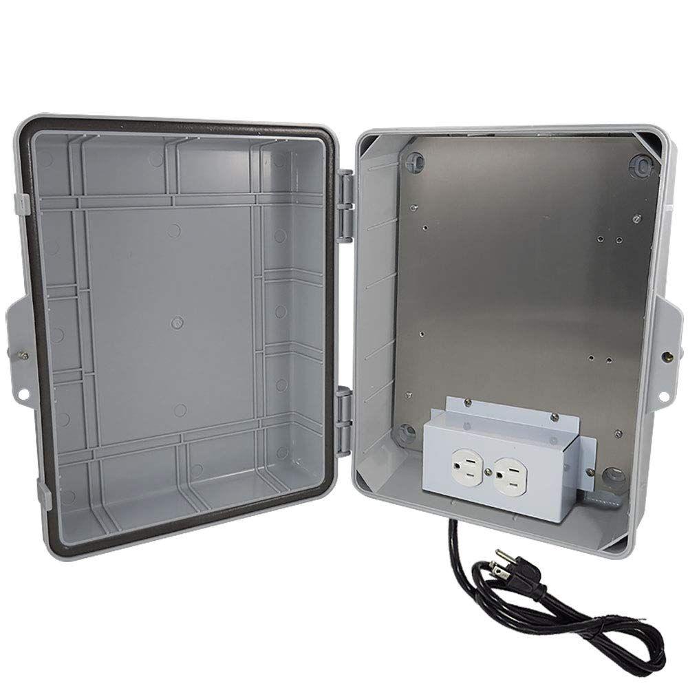 Altelix Nema Enclosure 9 5 X 8 X 4 Inside Space Polycarbonate Abs Weatherproof With Aluminum Equipment Mounting Pla Weatherproofing Enclosure Power Cord