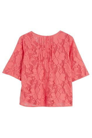 Buy Lace Pintuck Top from the Next UK online shop