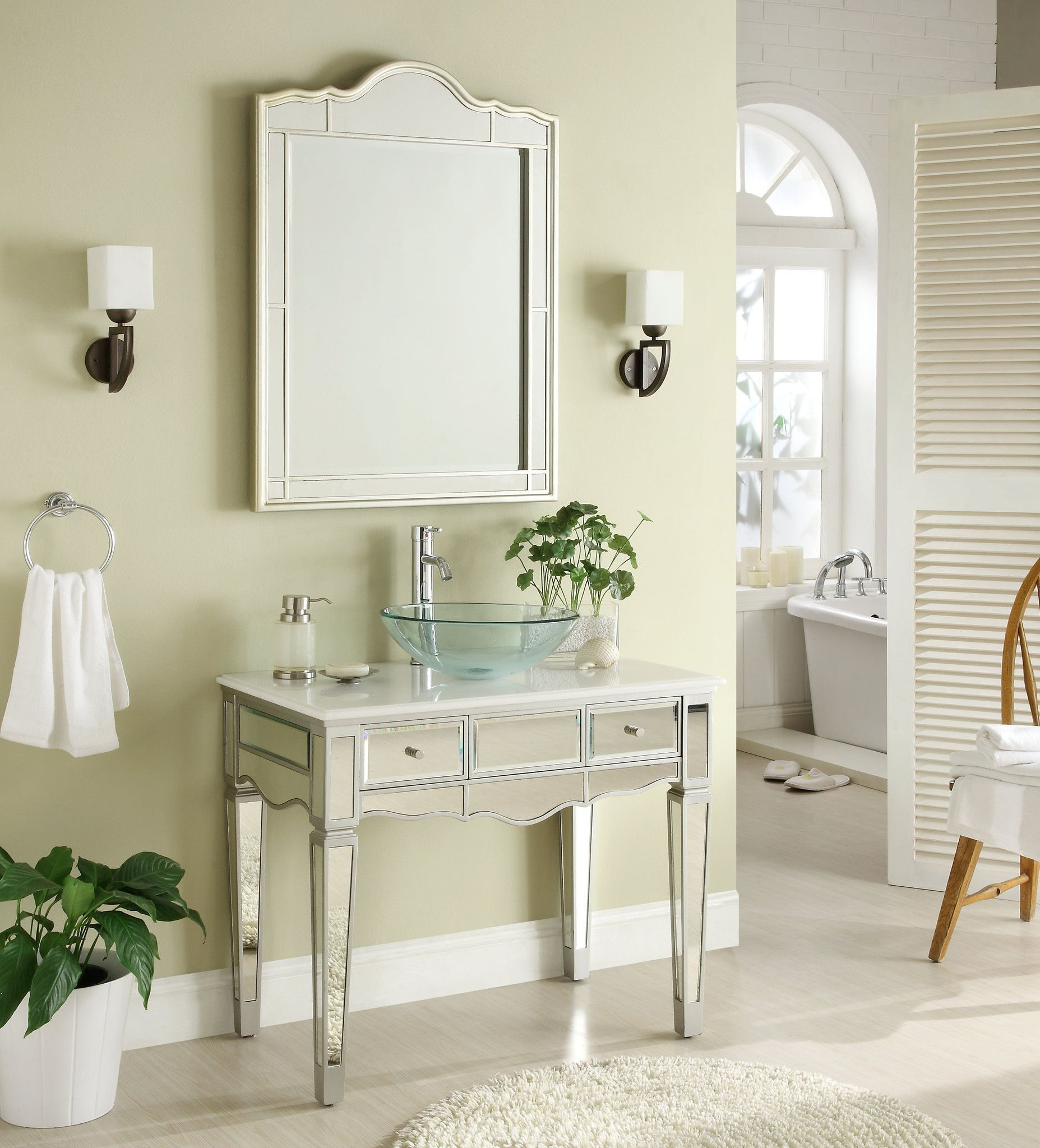 Bathroom sink and mirror - 36 Mirror Reflection Alston Vessel Sink Bathroom Sink Vanity Mirror Set Model Bwv