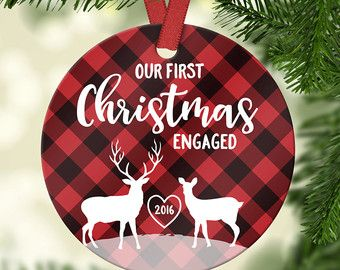 Christmas Tree Decorations Engagement Gifts First Christmas Engaged Ornament Engagement Gifts For Husband Engagem Engagement Ornaments Ornaments Etsy Ornaments