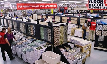 Image Of The Interior Of A Floor And Decor Store Floor Decor Flooring Photo Decor