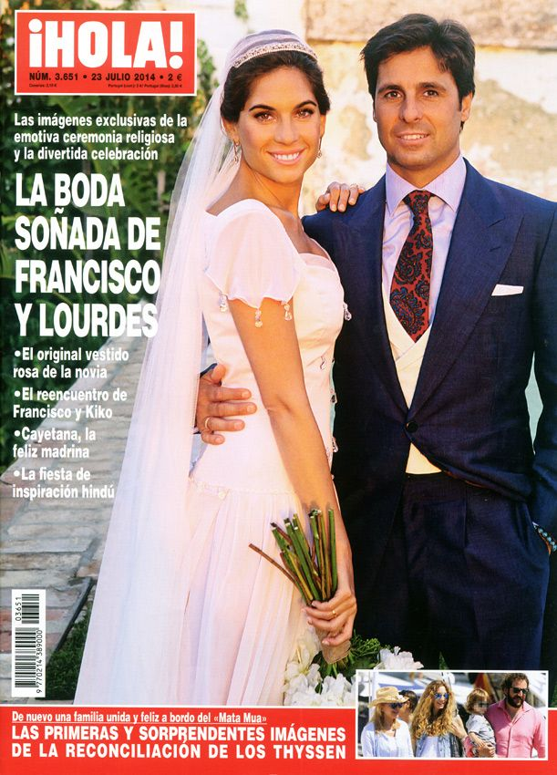 hola! adelanta su edición con las imágenes exclusivas de la boda