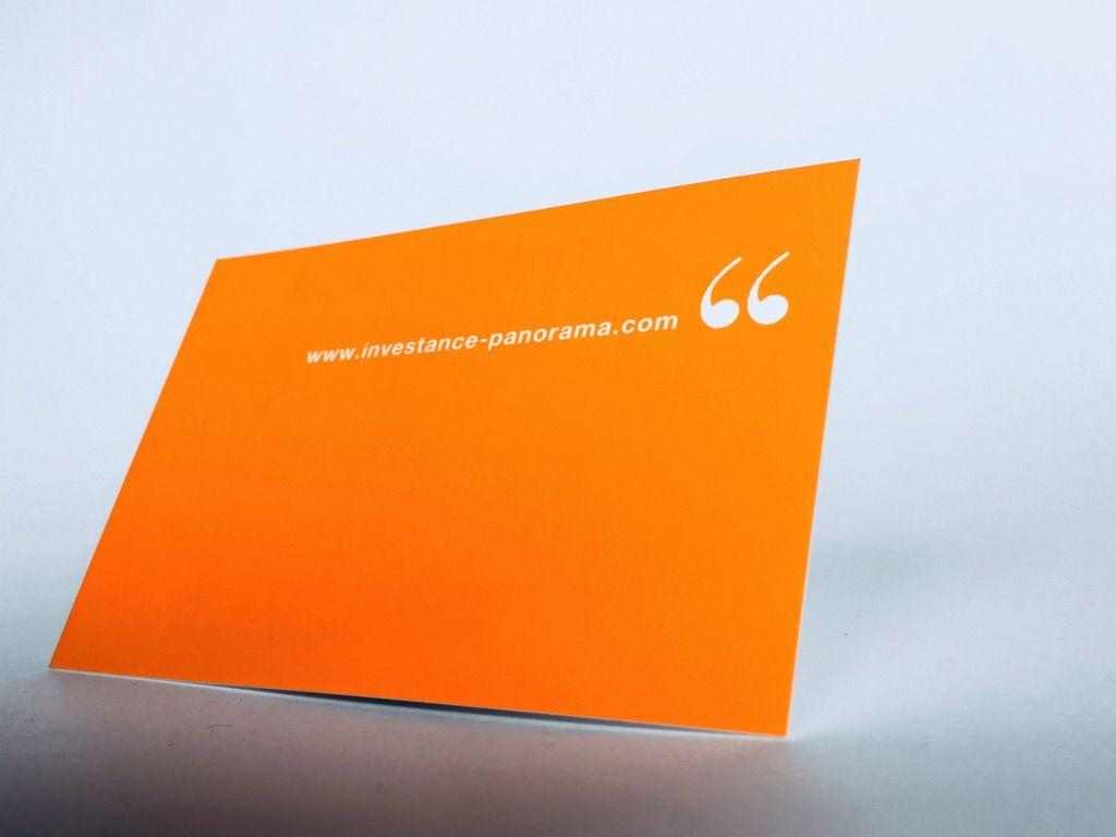 Carte De Visite Pantone Orange Et Pelliculage Soft Touch Graphique 350gr M2