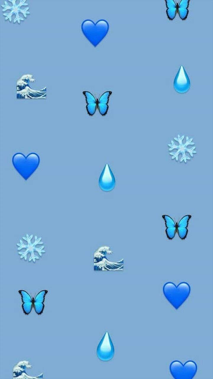 amazing blue aesthetic wallpaper emoji pictures