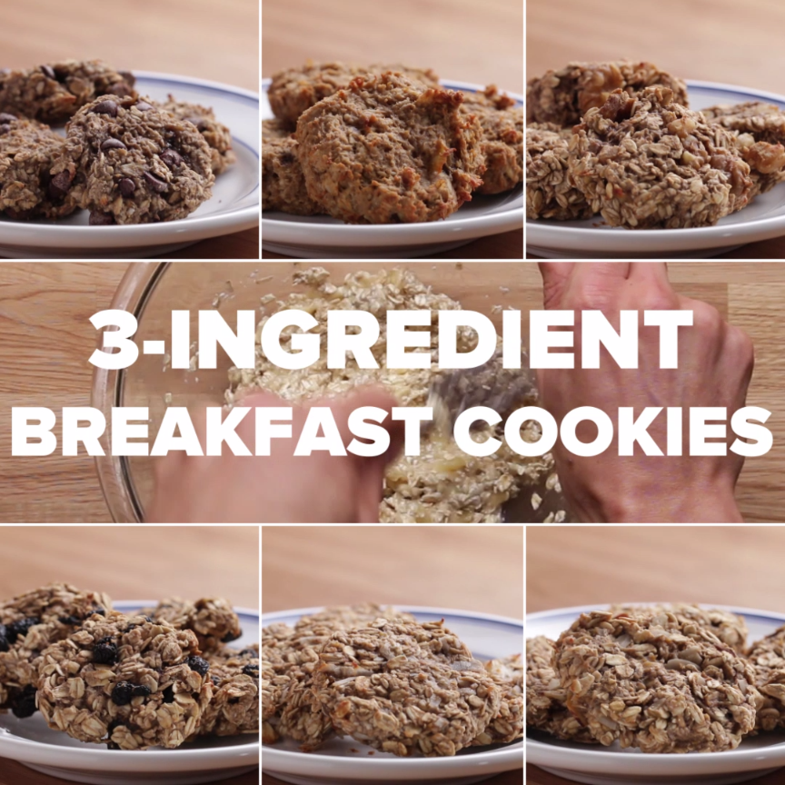 3-ingredient Breakfast Cookies Recipe by Tasty