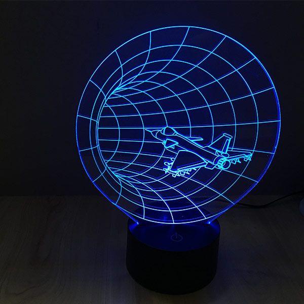 Time Tunnel Colorful 3d Led Lamp Luminaria Acrilico Ideias