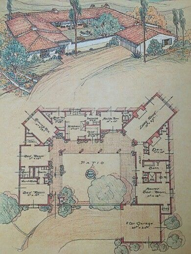 Old Style Ranch House Plans Best Of 10 Gorgeous Ranch House Plans Ideas Courtyard House Plans Spanish Style Homes Ranch House Plans