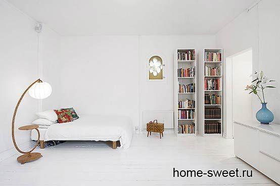 дизайн квартиры белый цвет минимализм