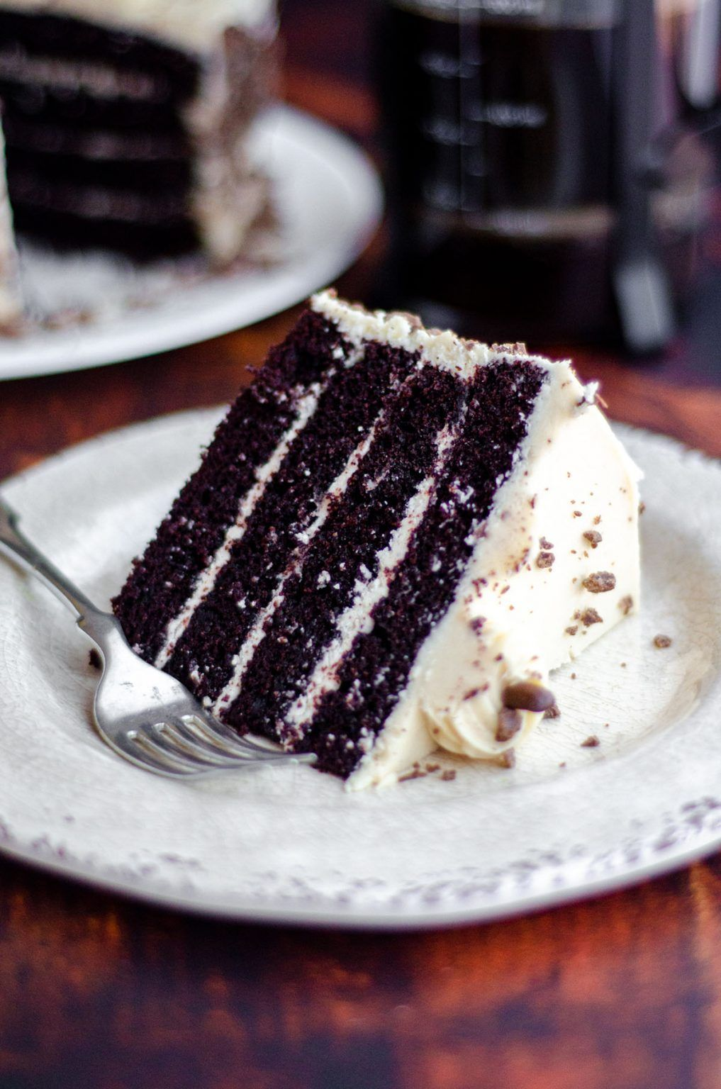 Mocha Cake with Coffee Buttercream Rich chocolate cake