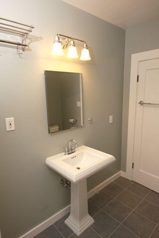 Subway Tile Pedestal Sink Bathroom   Google Search Pedestal Sink Bathroom,  Sinks, Half Bath