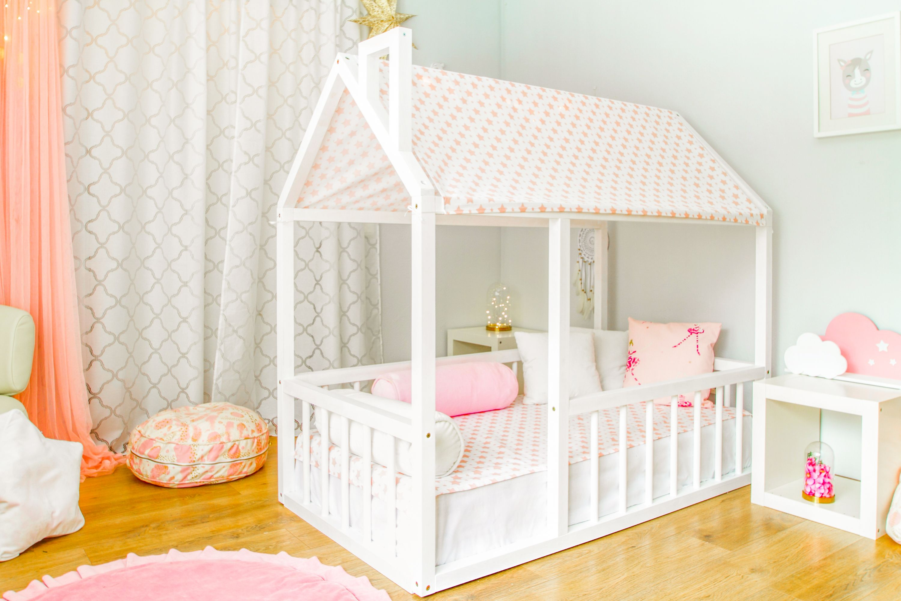 Nursery Bed House Nursery House Children Bed Toddler Bed House Bed Kids Teepee Wood House Ready To Ship Size 160cm X 8cm White Toddler Bed Frame House Beds House Frame Bed