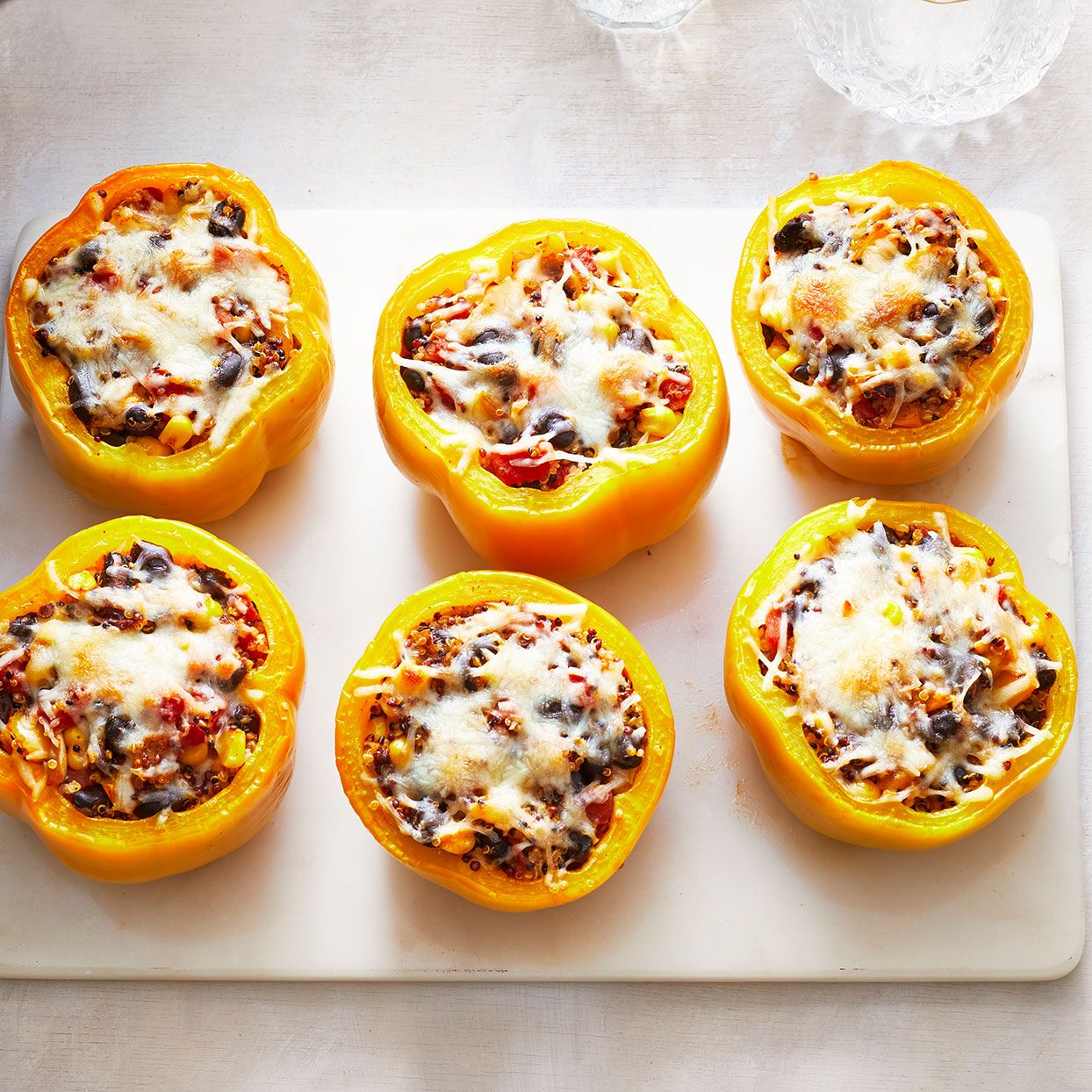 Vegetarian Quinoa Stuffed Peppers Recipe In 2020 Stuffed Peppers Vegetarian Quinoa Stuffed Peppers