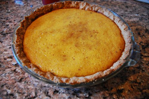 pumpkin pie. made with Maple Syrup whipped cream... myum!