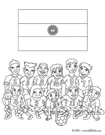 Argentina Coloring Page Soccer Teams Coloring Pages Team Of