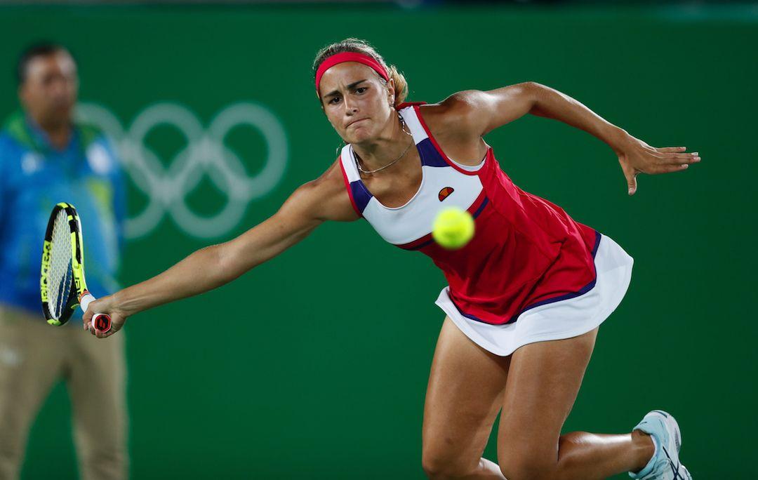 Monica Puig, Puerto Rico vann damernas singel guld i tennis, silver Angelique Kerber, brons Petra Kvitova, Tjeckien.