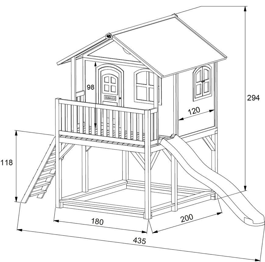kinder holz spielhaus axi marc kinderspielhaus auf stelzen sandkasten garten. Black Bedroom Furniture Sets. Home Design Ideas