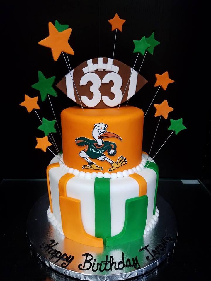 Excellent University Of Miami Birthday Cake Cool Birthday Cakes Birthday Funny Birthday Cards Online Hendilapandamsfinfo