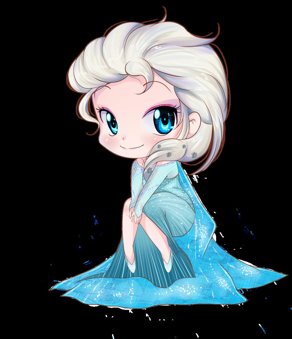 Elsa frozen chibi by on