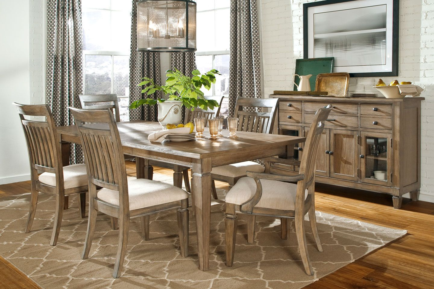 Gavin rustic formal dining room set fine dining furniture