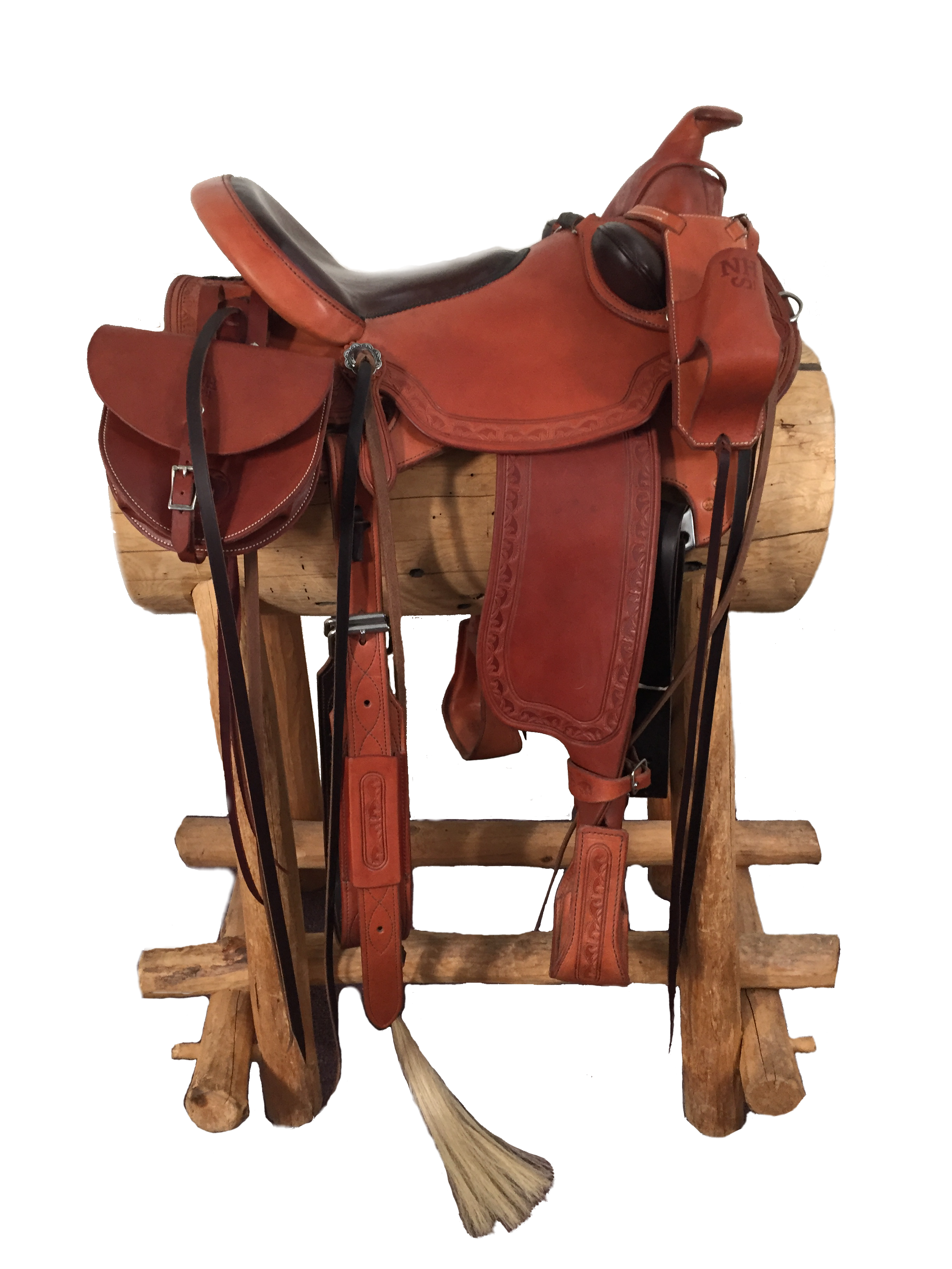 This is our Easy Rider Western Saddle - complete with Buckrolls