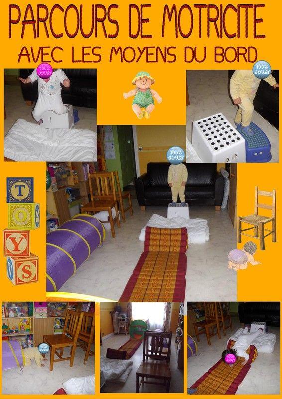 parcours de motricit avec les moyens du bord lorsque nous ne sortons pas les enfants aiment se. Black Bedroom Furniture Sets. Home Design Ideas