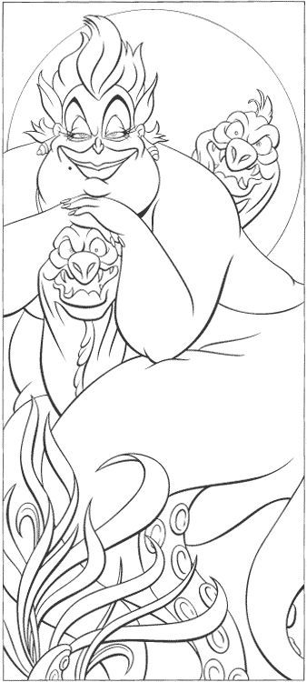 disney villains colouring pages 12