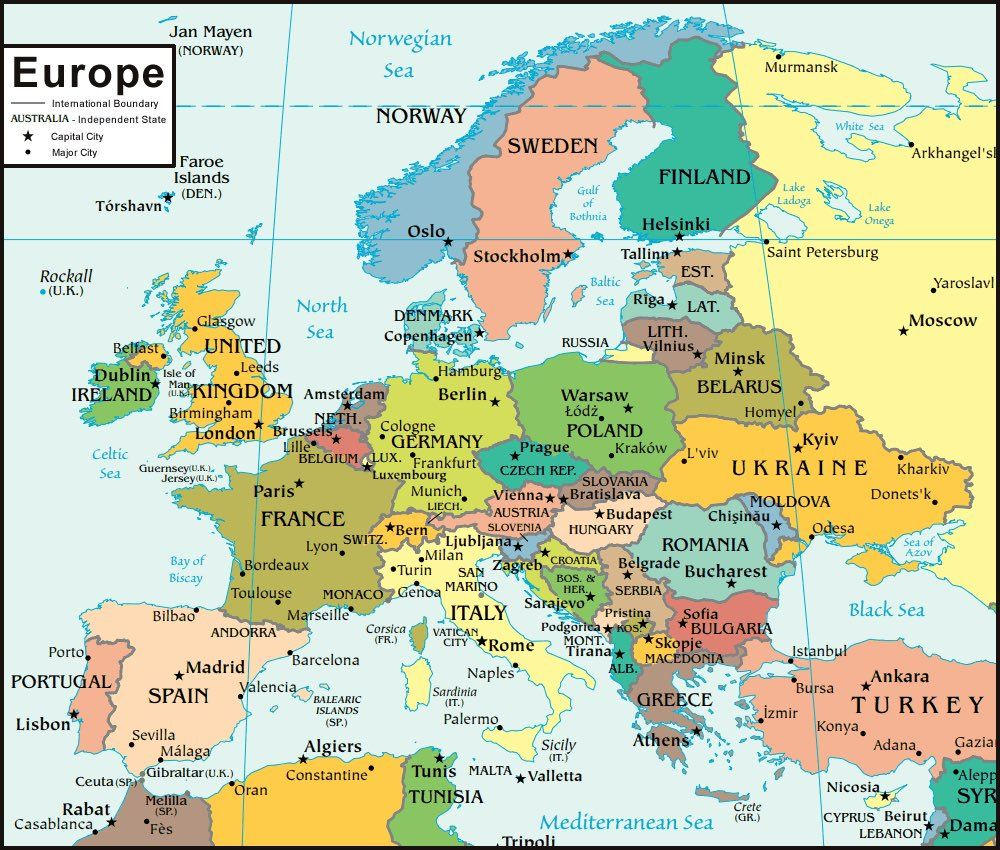 europe natural resources map Map Europe Pays Europe Map Not Labeled Southwest Asia Natural