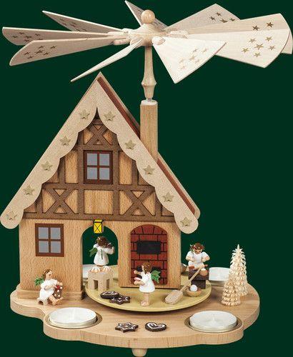 New 2012 Tealight pyramid Erzgebirge Angel Bakery Richard Glaesser Seiffen