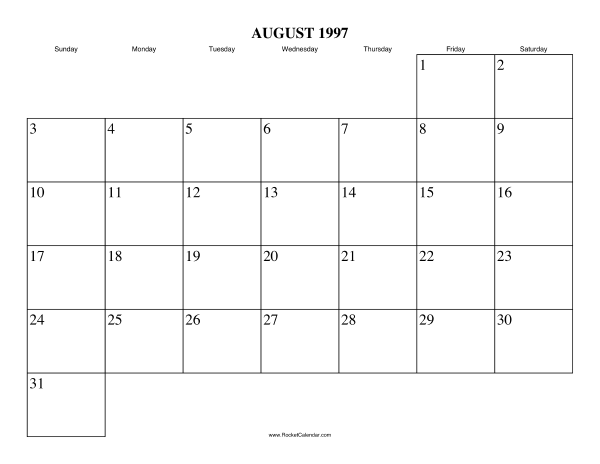 Free Printable Calendar For August  View Online Or Print In