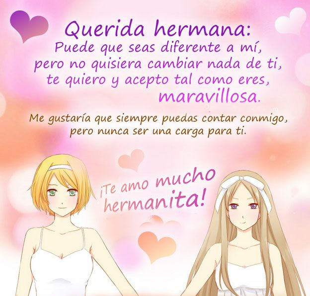 Romantic Quotes Ani: Frases Para Una Hermana Con