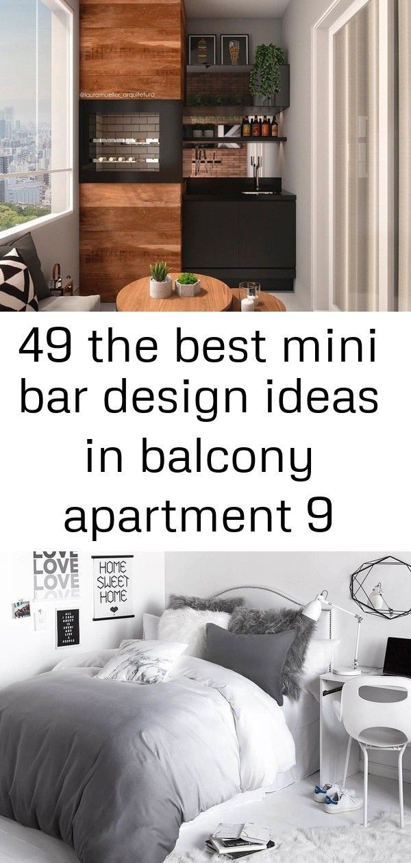 49 the best mini bar design ideas in balcony apartment 9 #apartment #balcony #bar #design #ideas #mini #balconybar