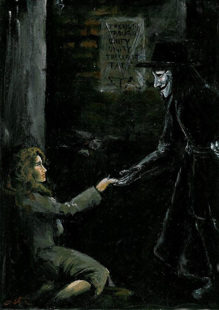 V Meets Evey V For Vendetta Vendetta Life Comics