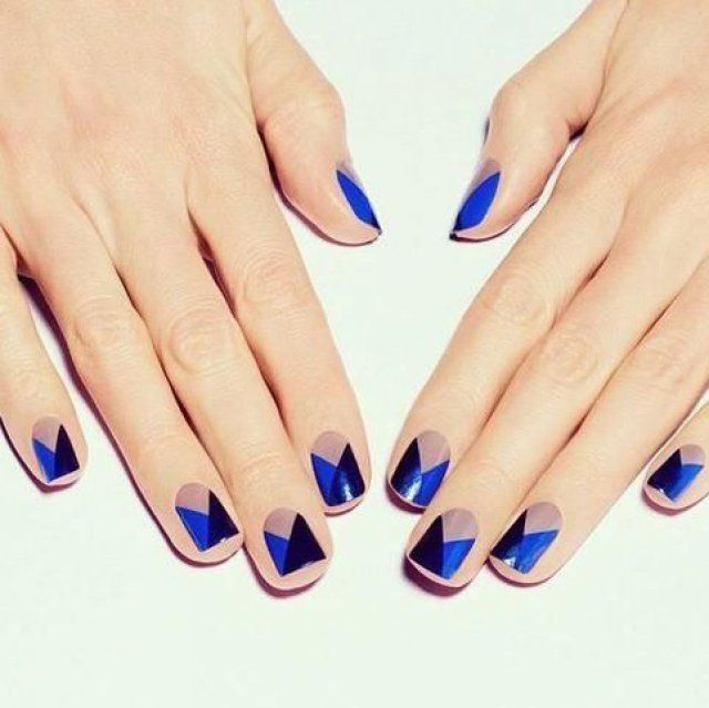 Nail art bleu, noir et rose - Magazine Avantages | ongles ...